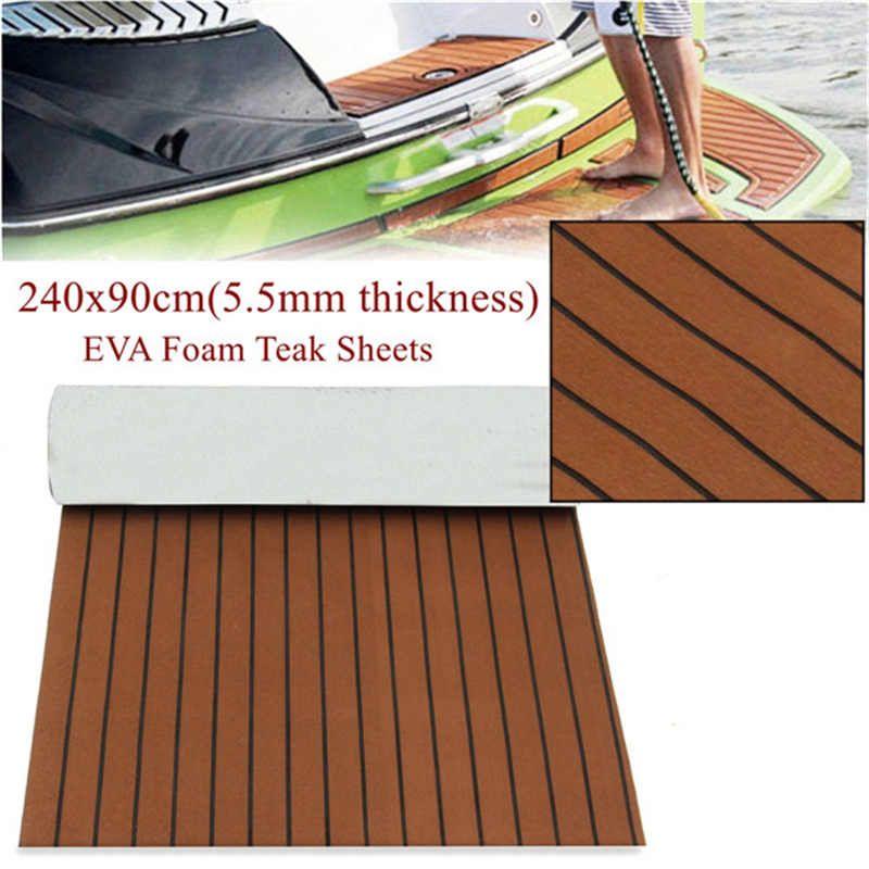 240x90cm Marine Boat Synthetic Flooring EVA Foam Yacht Teak Decking Sheet Car Carpet <font><b>Floor</b></font> Mat