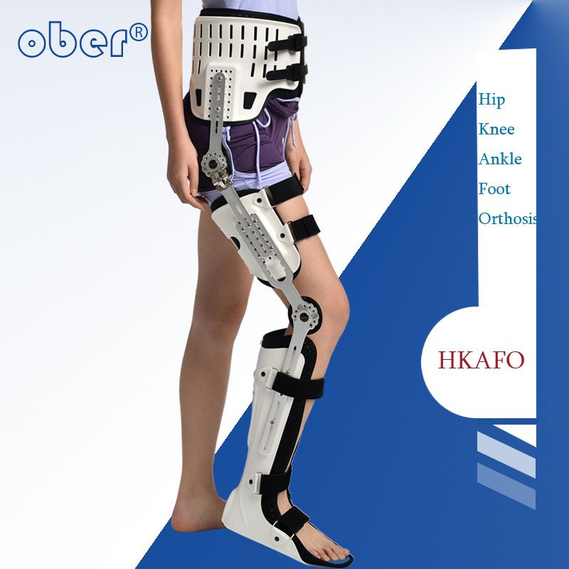 HKAFO Hip Knee Ankle Foot Orthosis For Hip Fracture Femoral Femur Fracture Hip Instability Fixation Of Lower Limb Paralysis Leg