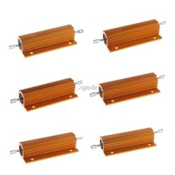 1/2/4/6/8/10 Ohm 100W Shell Power Aluminum Housed Case Wirewound Resistor Whosale&Dropship