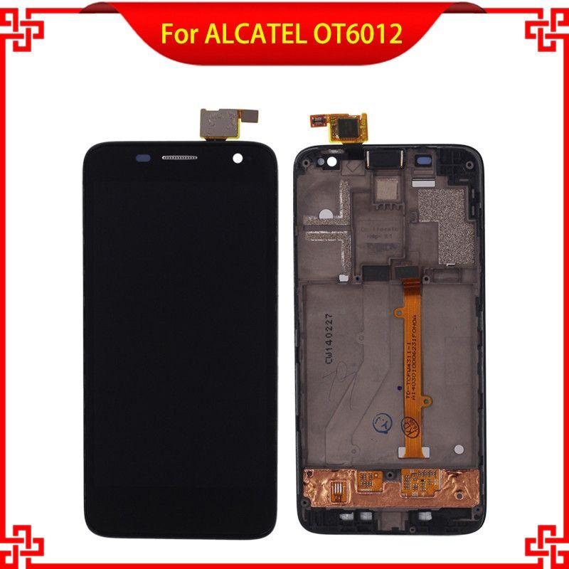 Pour Alcatel One Touch Idol mini 6012 OT6012 6012A 6012D 6012 W 6012X LCD Affichage à L'écran Tactile Digitizer Assemblée avec Cadre