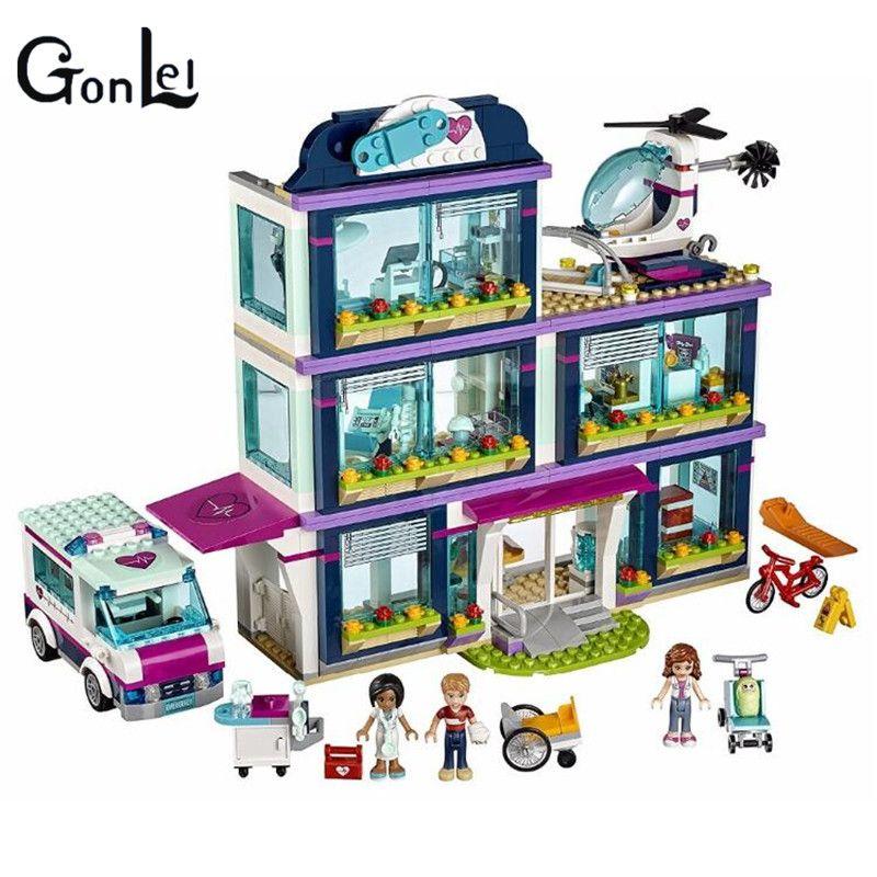 (GonLeI) 01039 Friends Heartlake Hospital Ambulance Block Set Olivia Compatible with 41318 Girls Toy 932Pcs