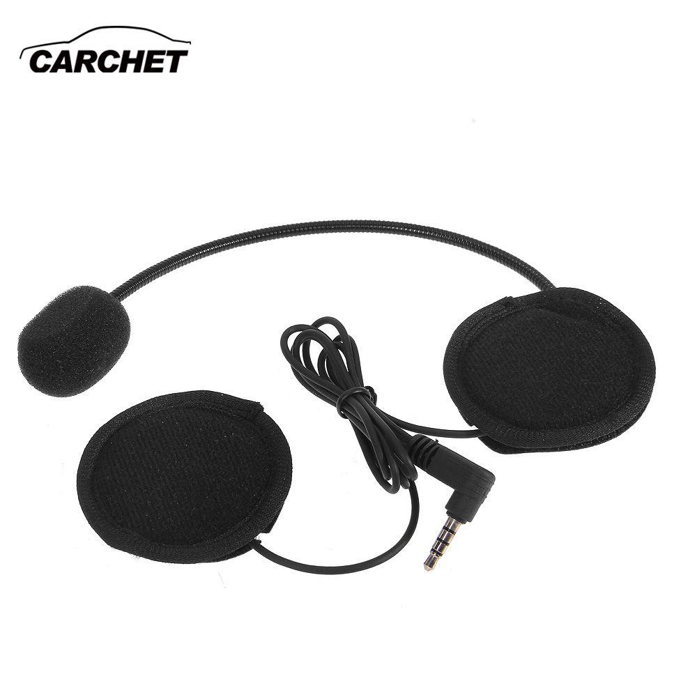 CARCHET Motorcycle Helmet Bluetooth Headset with Mic 3.5mm Port for Intercom Interphone Moto Helmet Headset