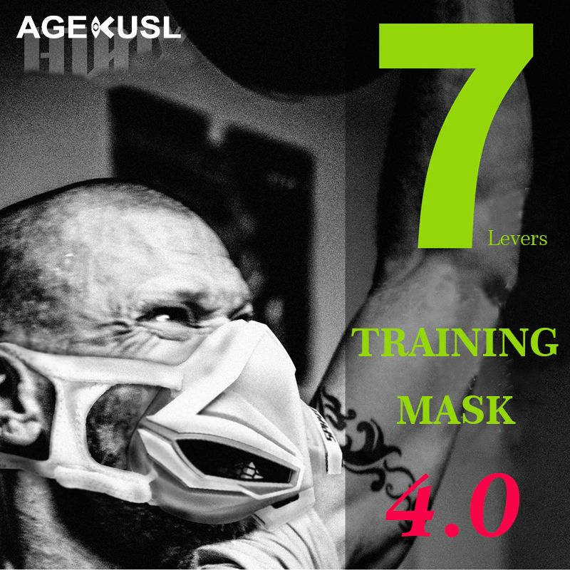 AGEKUSL Sport Training Maske 4,0 Radfahren Gesicht Maske Fitness Workout Gym Übung Laufen Fahrrad Fahrrad Maske Höhe Cardio Maske