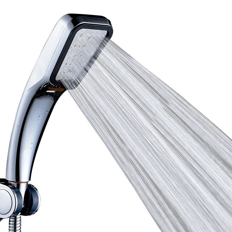 300 Hole Pressurized Shower Head Water Saving ABS bath Hand Shower Chrome Plated Water Booster Showerhead for Bathroom