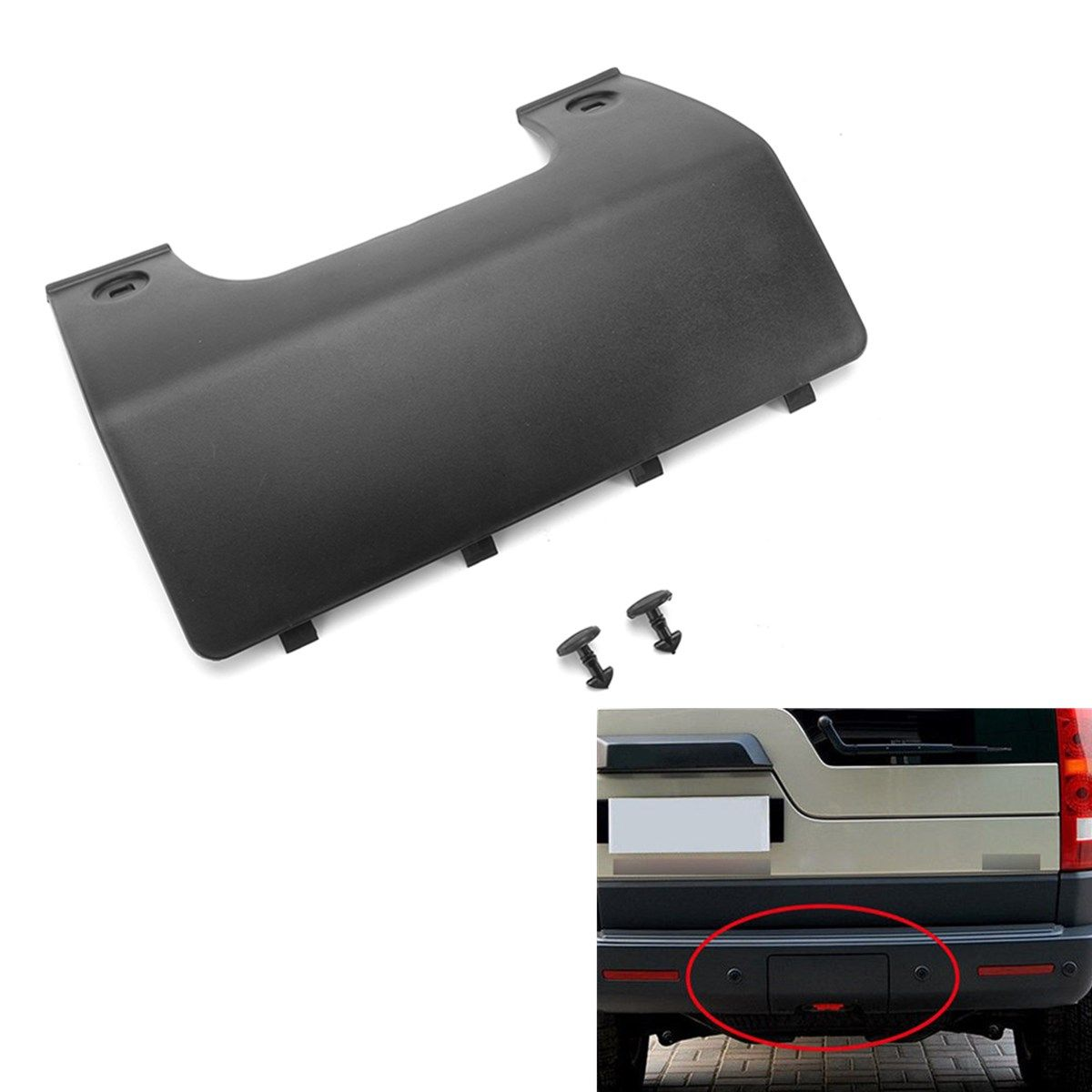 New Rear Bumper Tow Eye Cover Panel For Land Rover Discovery 3/4 DPO500011PCL