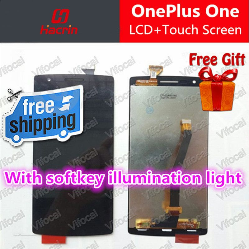 Oneplus One LCD Display + Touch Screen Digitizer Assembly Replacement for Cyanogenmod With softkey illumination light - Hacrin