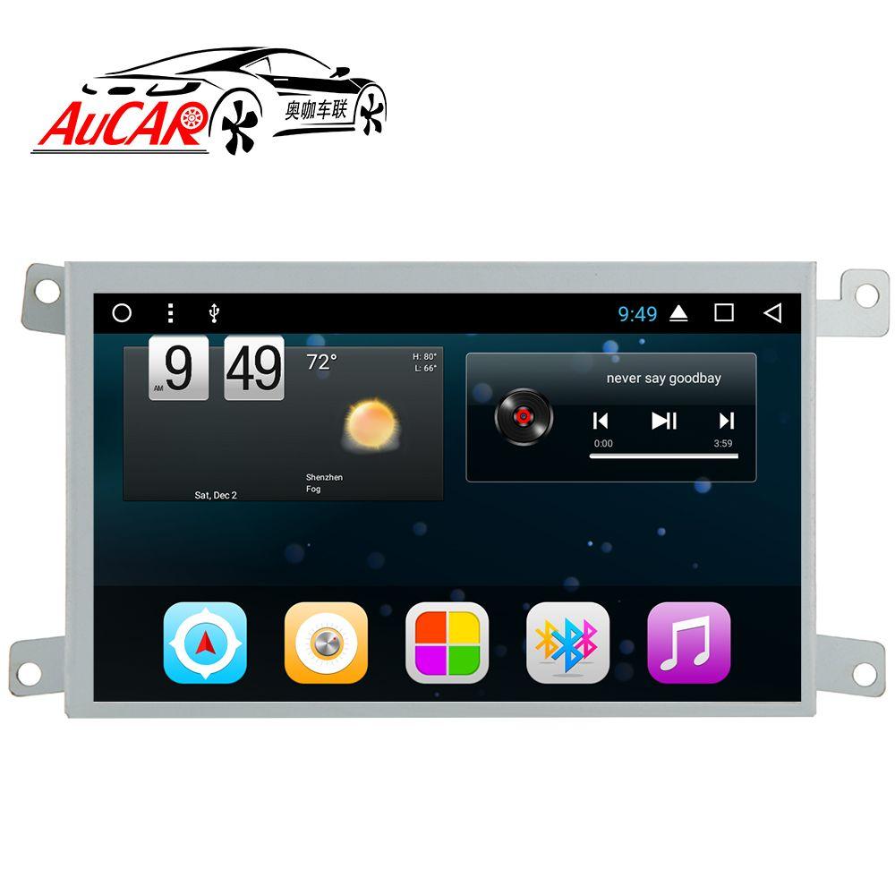 AuCAR Android 6.0 Auto multimedia für Audi A6 A6L LHD RHD Auto DVD Player 2005-Quad core Bluetooth GPS Radio WIFI 4G Stereo IPS