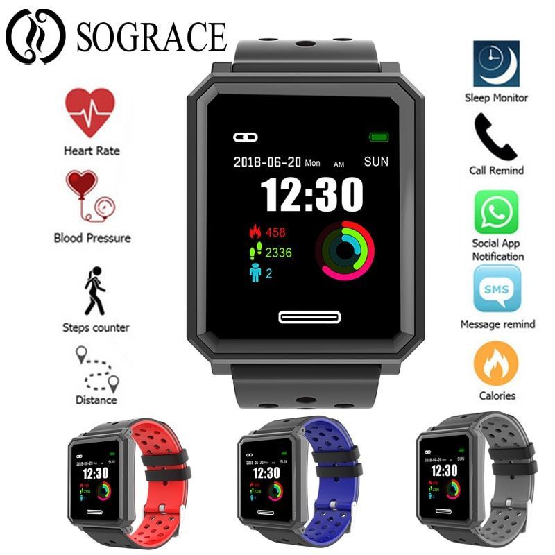 IP67 Waterproof Smart Wristband Fitness Tracker Heart Rate Tracker Smart Band Step Counter Pedometer Bluetooth Sport Bracelet