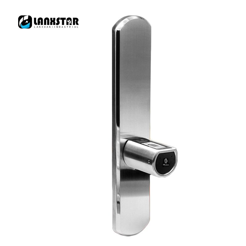 LANXSTAR New Luxury Double System Intelligent Micro Lock Core IP44 Bluetooth Fingerprint Locks APP Electronic Smart Lockset