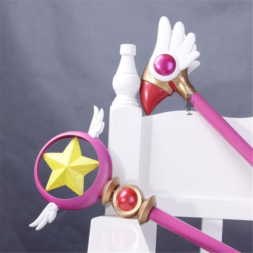 Anime Cardcaptor Sakura Kinomoto Sakura Cosplay Bird Head/Star Magic Stick Wand Staves Accessorie Prop
