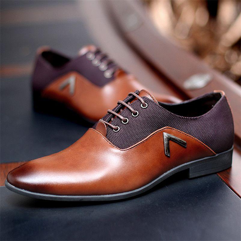 Gentleman Oxford Men Leather Shoes Summer Male Flats Bullock Zapatillas Hombre Dress Black Brown Size 35 -47 chaussure homme
