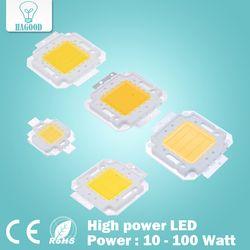 Супер 10 W 20 W 30 W 50 W 100 W светодиодный Integrated высокой мощности Светодиодный лампы белый/теплый белый чипы Epistar COB светодиодный лампы