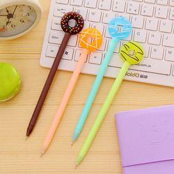 0,38 мм милые Милые Пончики гелевая ручка милые конфеты цвет школьные ручки для детей письмо Подарочная Корейская Канцелярия