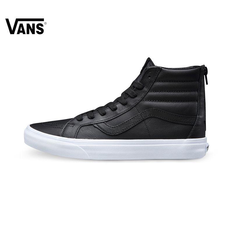 Original Vans Men&Women Shoes Black Color Skateboarding Shoes Sport Shoes Sneakers Free Shipping
