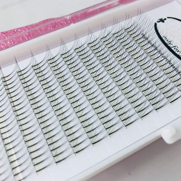 3D Russian Volume Eyelashes Extension Short Stem Pre made Fans Lash Hot Selling Eyelash Individual Extensions Free Shipping
