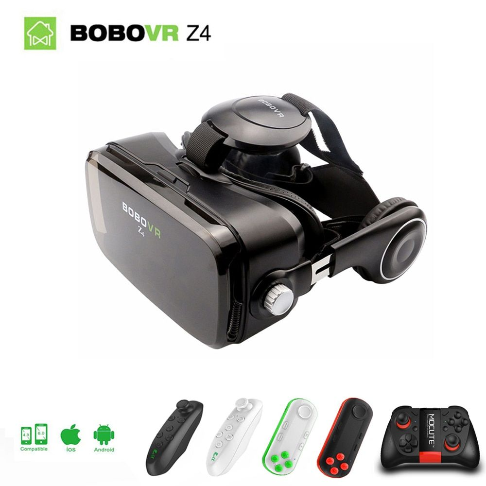 Original Xiaozhai BOBOVR Z4 Virtual Reality 3D VR Glasses BOX Theater Private to 4.7-6.2 inch smartphone + bluetooth headset 2.0
