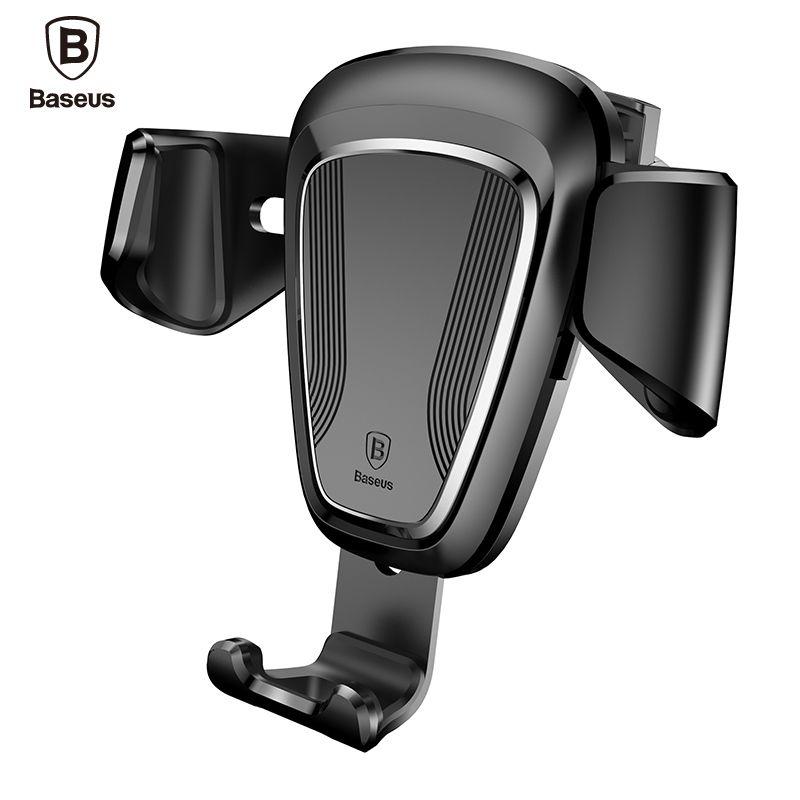 Baseus Téléphone Support De Voiture Pour iPhone 7 6 Samsung S8 Voiture Air Vent Mount Mobile Phone Holder Stand Soporte Movil Soutien Cellulaire