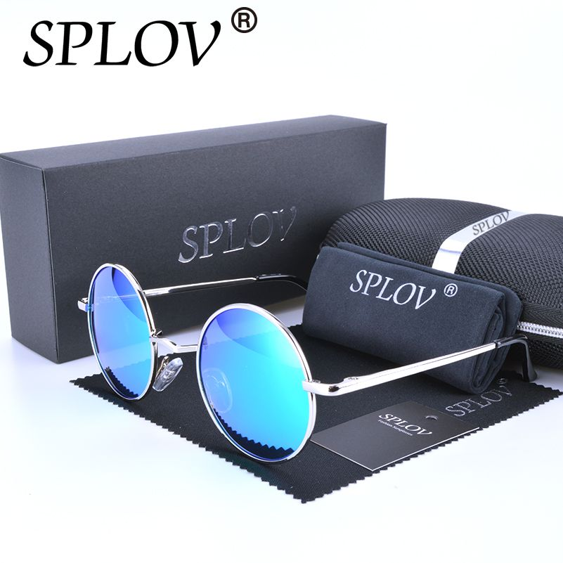2017 Ray Brand Designer Classic Polarized Driving Round Sunglasses Men Retro John Lennon Glasses <font><b>Women</b></font> Metal Fashion Eyeglasses