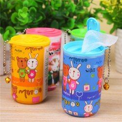 Portable wet wipes floral cartoon canned pumping 1 barrels of Wet Wipes car wet wipes to face alcohol pad alcohol pad baby adult
