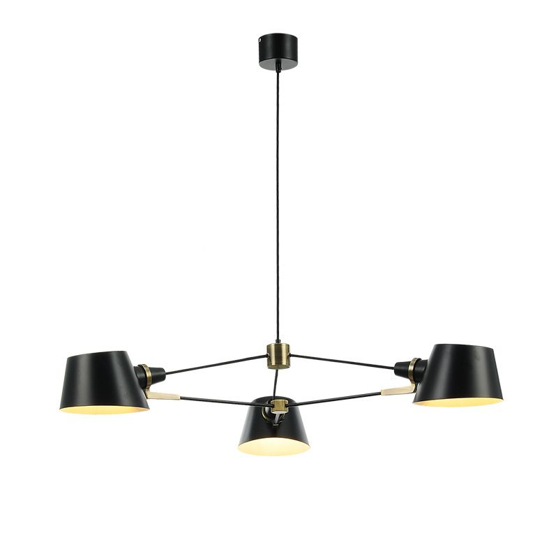 Nordic wohnzimmer kronleuchter moderne einfache 3/6 PCS E27 birne balck esszimmer lichter Amerikanischen cafe kleid raum kreative LED lampe