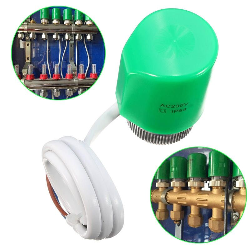 Best Thermal Electric Actuator for Manifold in Under flooring Heating System 230V Normally Open For Control Radiator Fish Parts