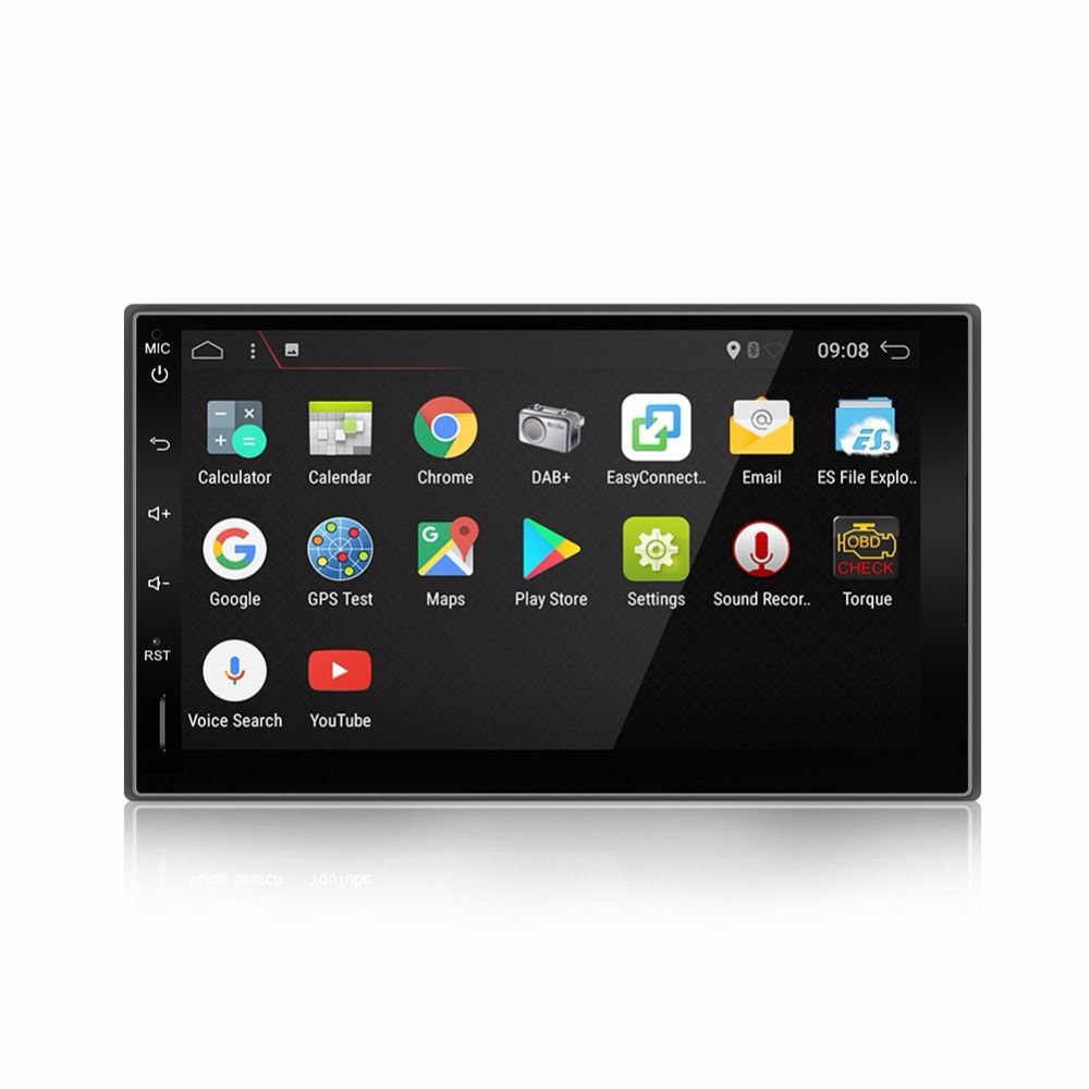 Universal 2 din Android 7.1 Car DVD player GPS+Wifi+Bluetooth+Radio+quad core CPU+DDR3+Capacitive Touch Screen+3G+car pc+aduio