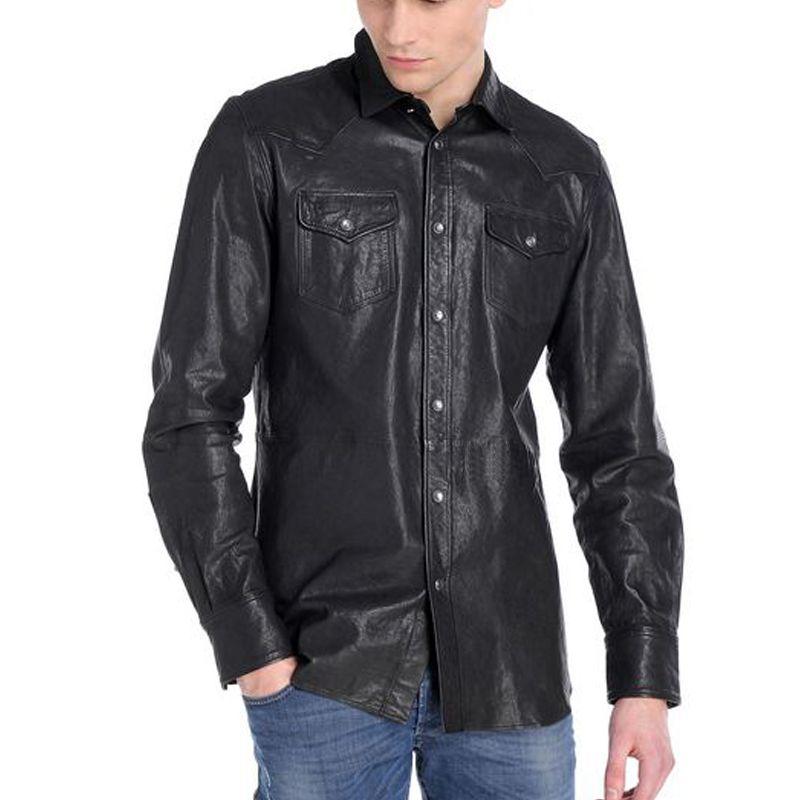 Бесплатная доставка. продаж зимние теплые овчины Куртки, Мужская Тонкий натуральной овечьей кожи, мотоцикл байкер одежда. бренд