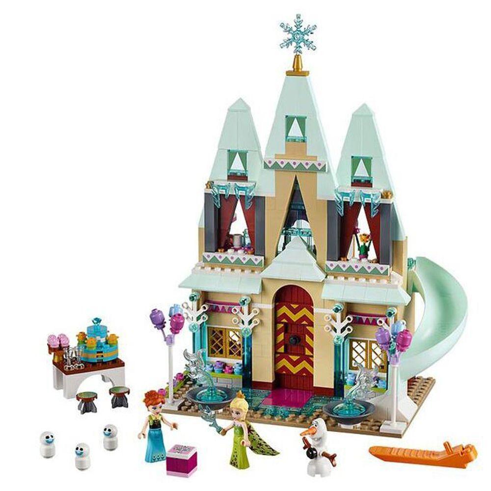 Mylb nouveaux blocs de construction château d'arendelle princesse Anna Elsa figurines à construire avec des amis briques éducatives compatibles