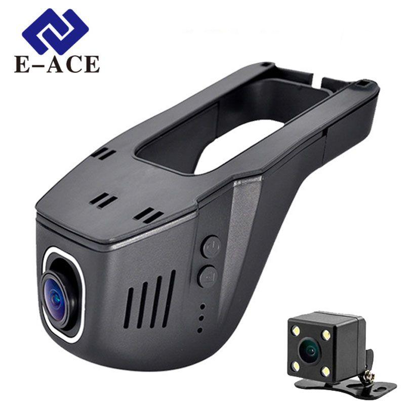 E-ACE Hidden Mini Wifi Camera Car Dvr Dual Lens Auto Video Recorder Dashcam <font><b>Registrator</b></font> DVRs Dash Cams Full HD 1080P Nigh Vision