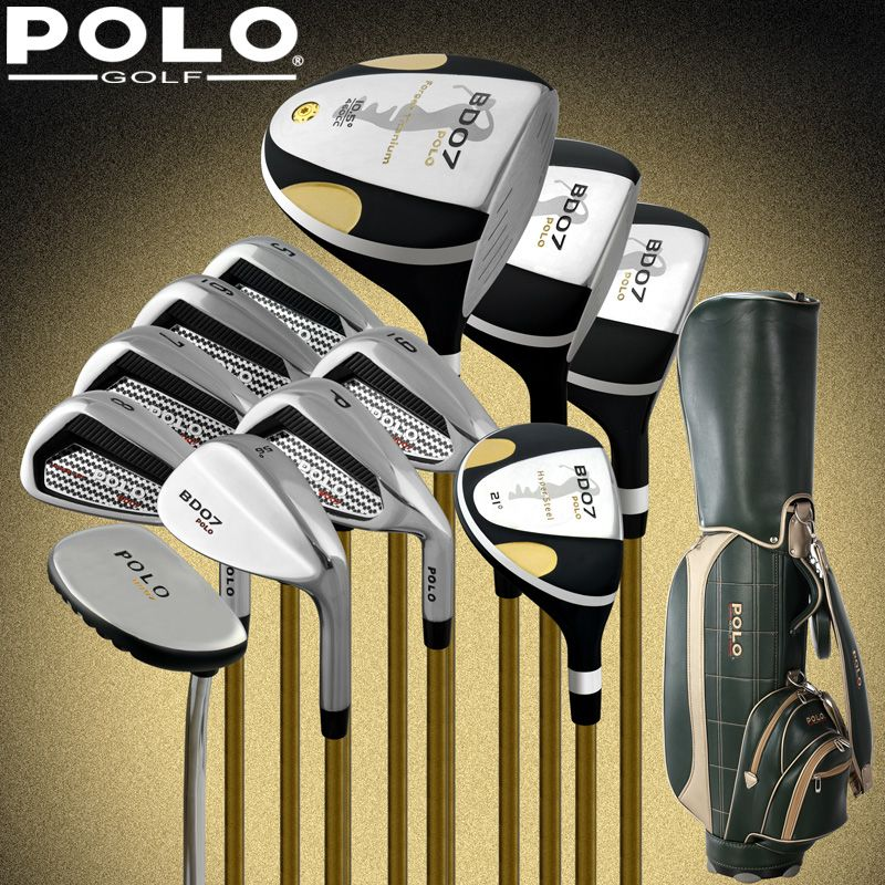 Brand POLO Collections and Professional Gamer golf clubs full set with bag mens golf clubs golf irons set golf graphite shafts