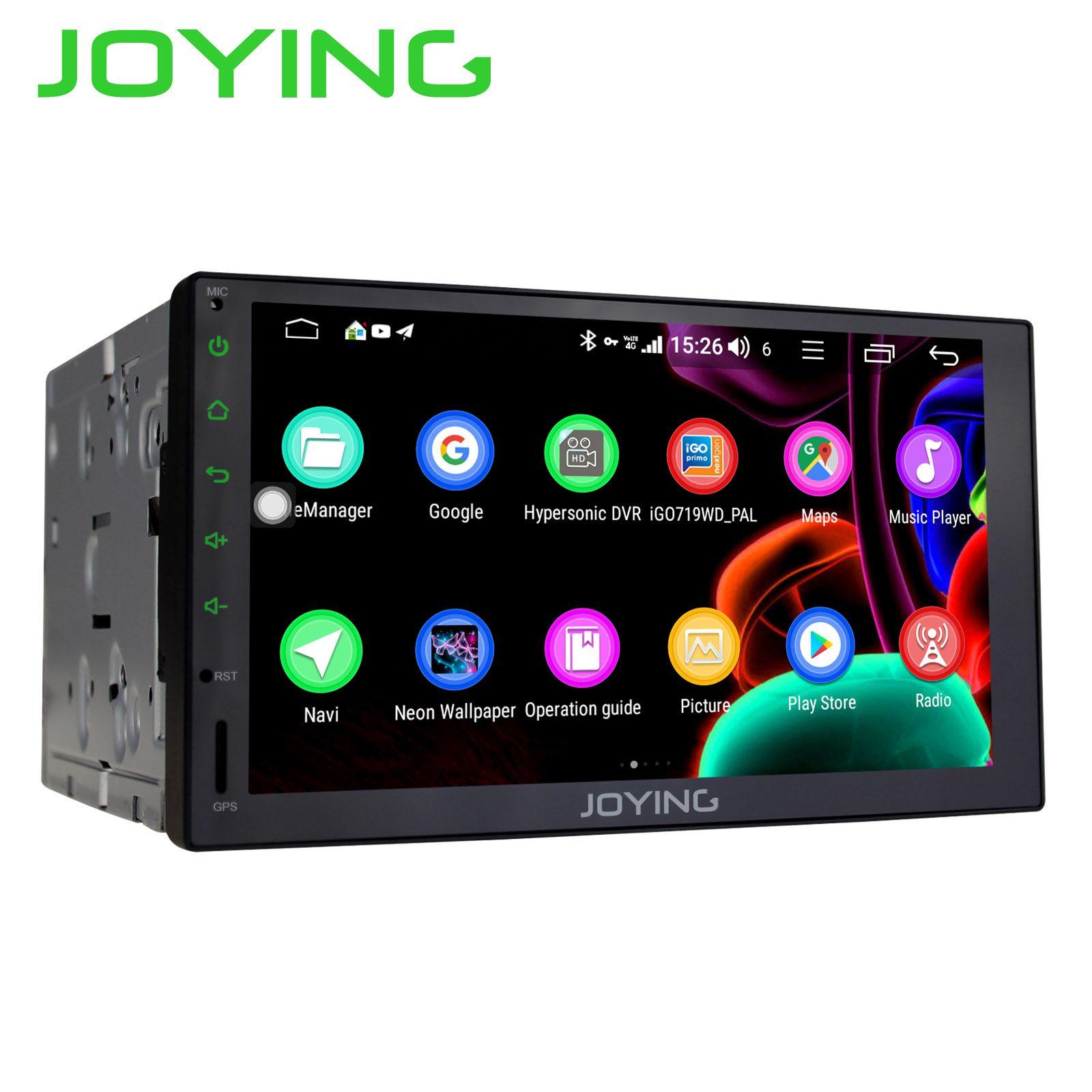 JOYING 2 din auto radio player Octa Core 4GB + 64GB Android 8.1 Unterstützung 4G DSP GPS universal stereo kopf einheit SWC multimedia player