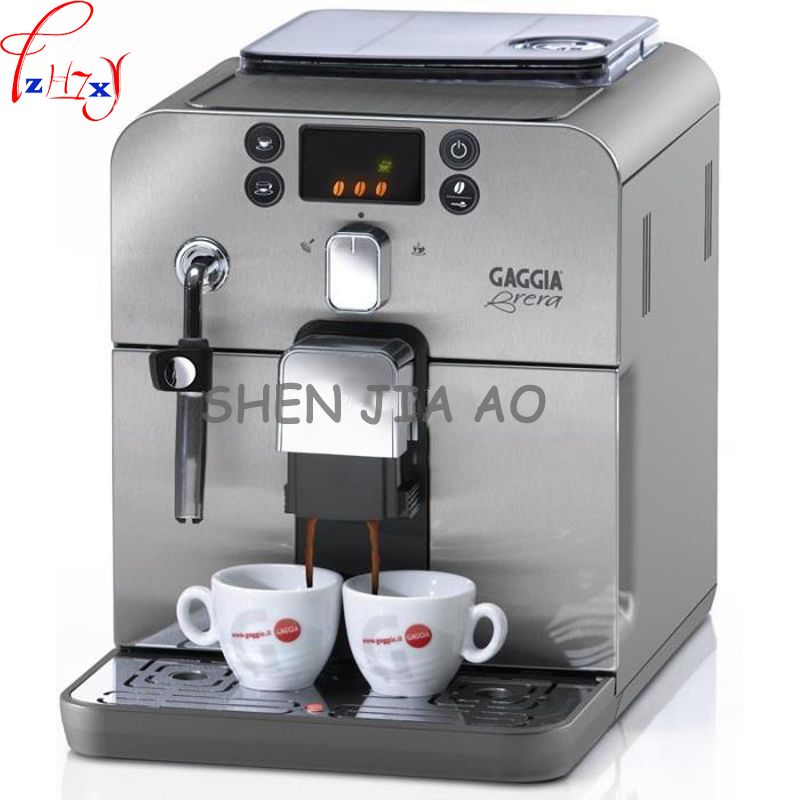 Business/home automatic Italian coffee machine 1.2L coffee machine intelligent stainless steel Italian coffee machine 220V 1pc
