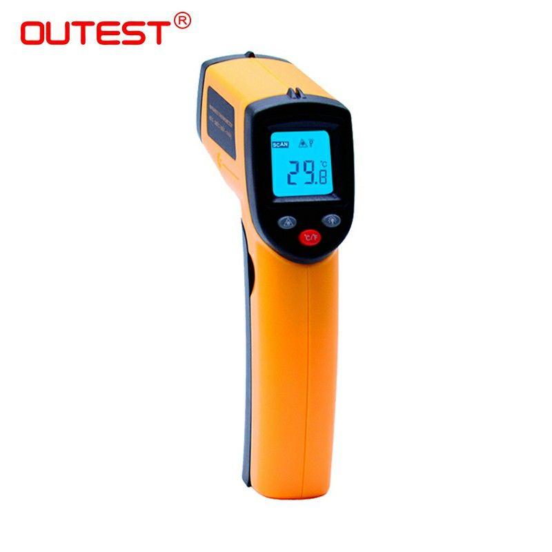 Infrarouge thermomètre GM320 Sans Contact Laser Gun Infrarouge IR Thermomètre LCD numérique affichage-50 ~ 380 degrés 1 pcs avec boîte de peau