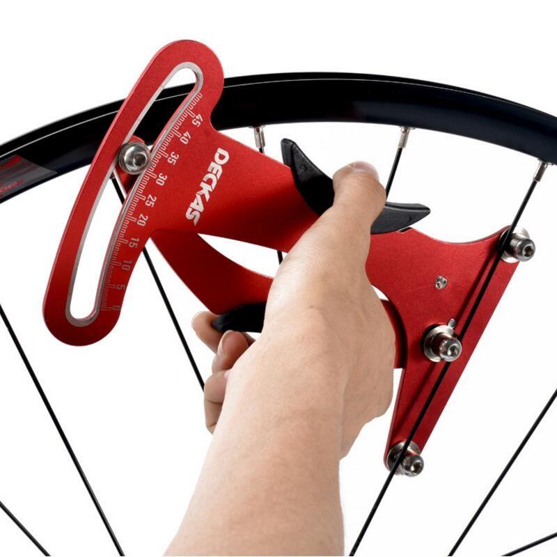 Deckas Bike Indicator Attrezi Meter Tensiometer Bicycle Spoke Tension Wheel Builders Tool Bicycle Spoke Repair Tool