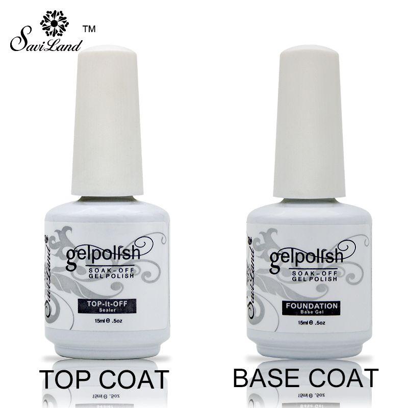 Saviland Soak Off Gel Lacquer Professional 15ml Gelpolish Base and Top Coat Varnishes Primer Nail Art Uv Gel Nail Polish