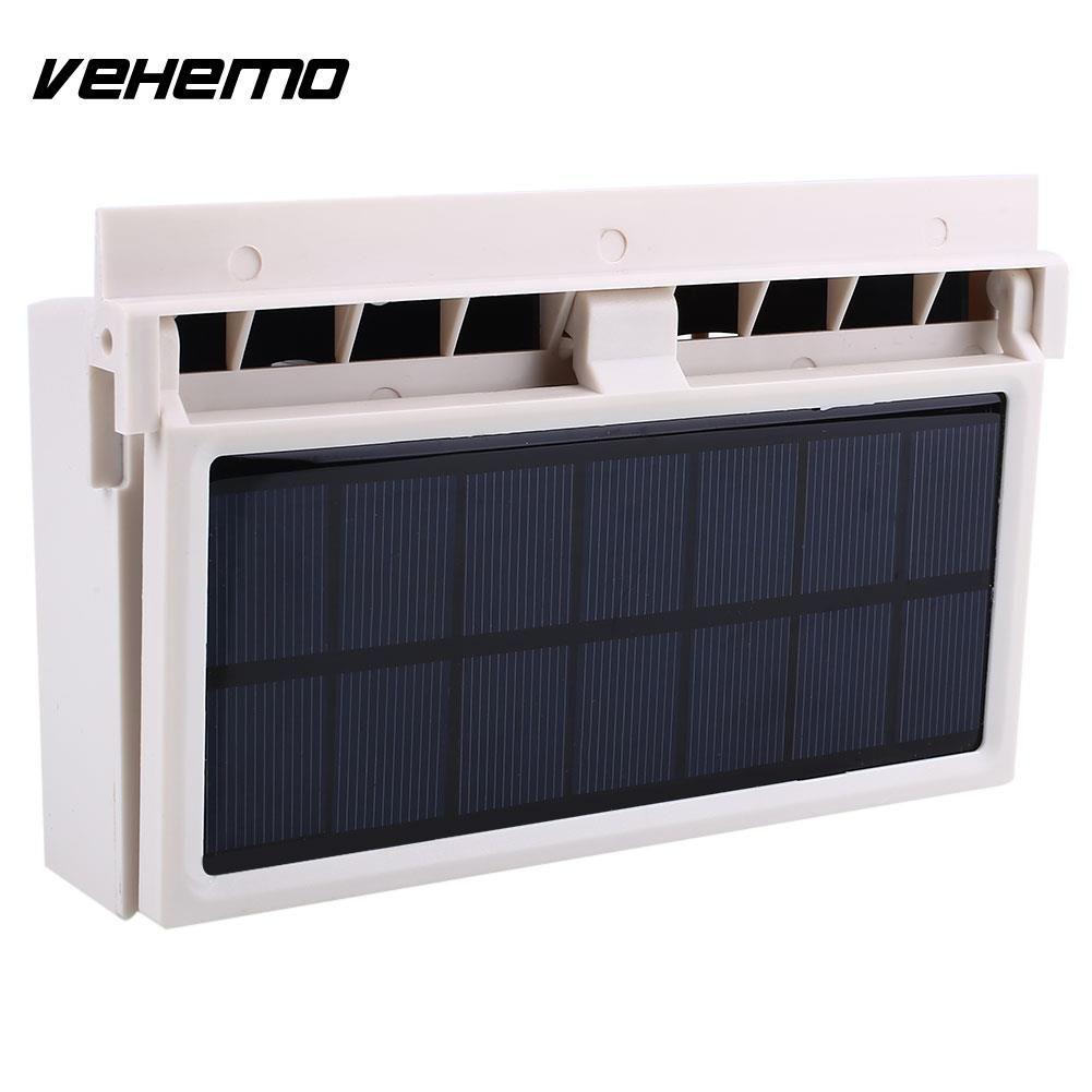 Vehemo Mini Solar Power Car Air Vent Fan Air Conditioner Battery Can Supply Power