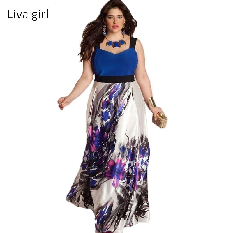 Large Size 6XL Summer Dress 2018 Plus Size Midi Dress Casual Patchwork Loose Dresses Plus Size 5XL Women Clothing Big Sizes 4XL