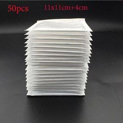 (11 * 11cm + 4cm) White Bubble Envelope Bubble Bag Bubble Film Envelope Shock Bag 50pcs