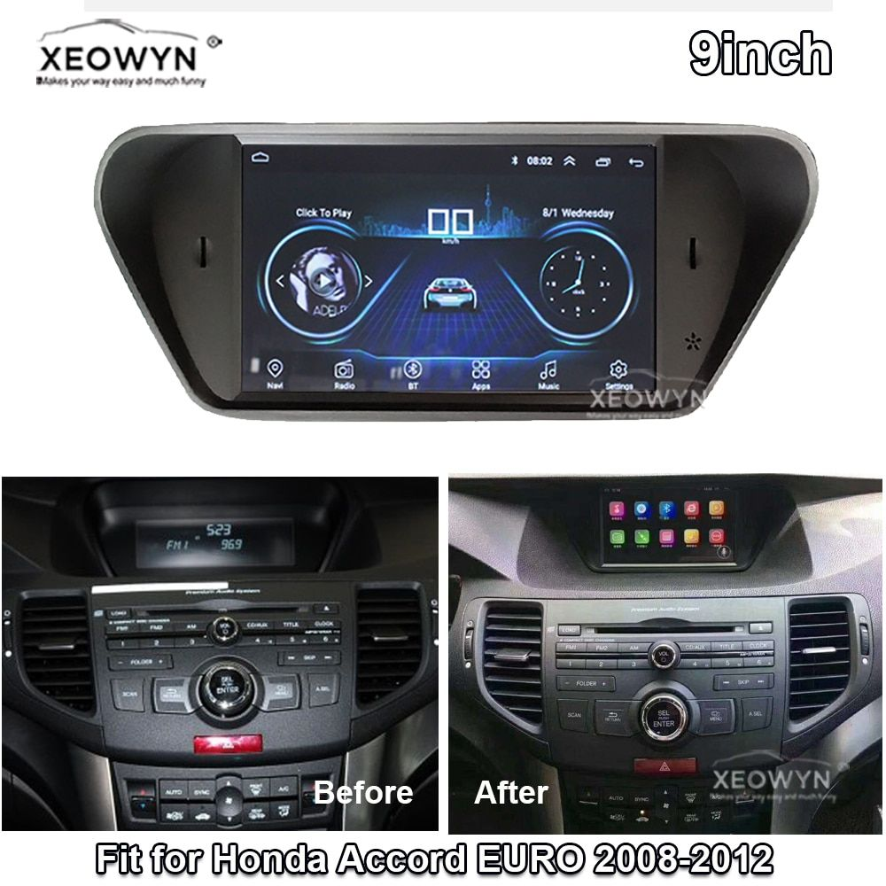 Android 8.1 ROM32GB Quad core für honda Accord 8 corsstour Europa 2008-2013 Auto radio GPS Navigation-Player Radio Multimedia HD
