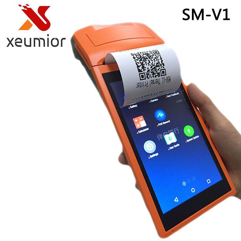 SM-V1 Android 3G pos system 5,5 zoll display Mobile Handheld Intelligente POS-Terminal mit Drucker