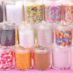 TOFOCO 30g Tanah Liat Sprinkles Lendir Untuk Filler Untuk Lendir Persediaan Permen Palsu Kue Dessert Dekorasi Lumpur Mainan Aksesoris DIY