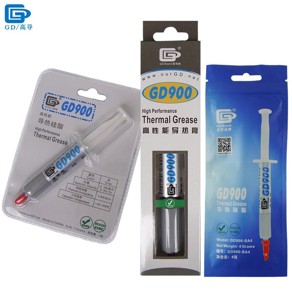 GD900 Thermal Conductive Grease Paste Silicone Plaster Heat Sink Compound High Performance Gray For CPU BA4  BR7 BX30