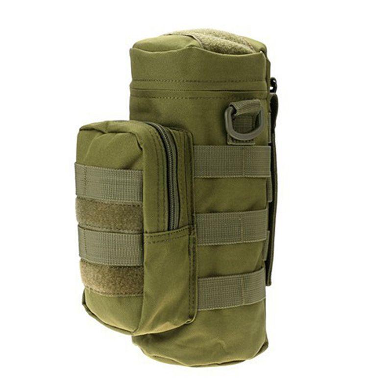 Nylon Wasserflasche Tasche wasserabweisend Reißverschluss Camo Wasserflasche Taktische Militärische Packsack für Reise Klettern