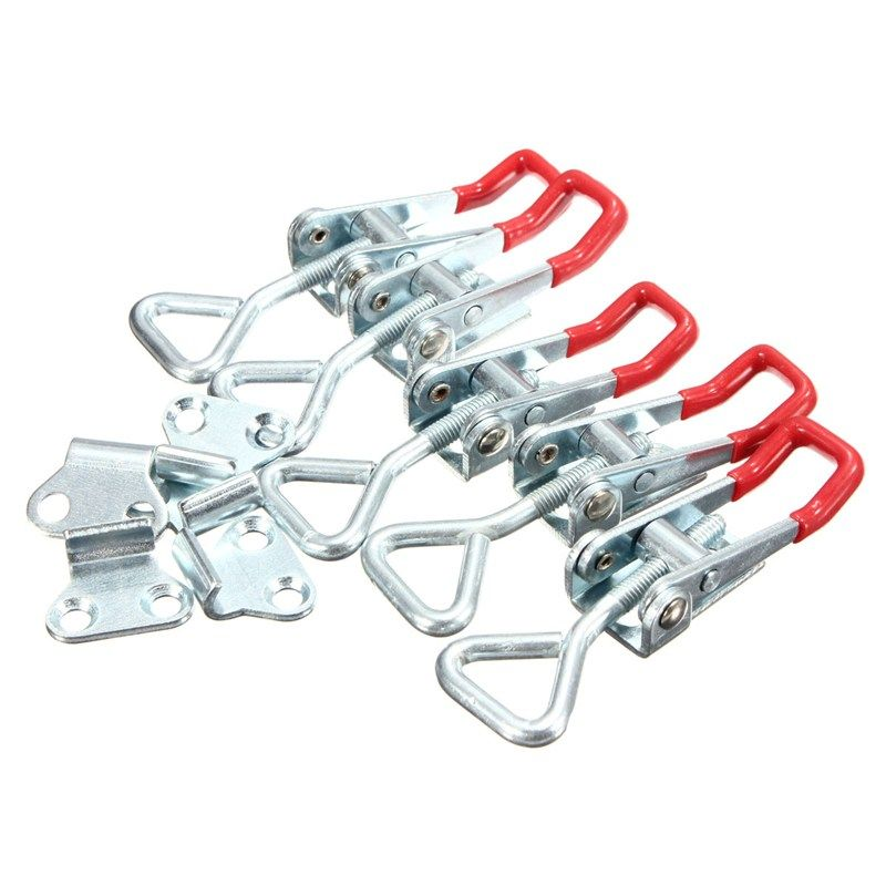 MTGATHER 5Pcs Adjustable Toggle Clamp 100KG/220lbs Quick Holding Capacity Latch Hand Tool