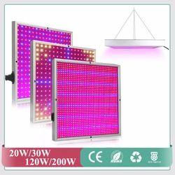 Espectro completo 20 W 30 W 120 W 200 W LED crece la luz 660nm + 460nm rojo + azul de la planta crecimiento lámparas iluminación Led para hidroponía hortalizas