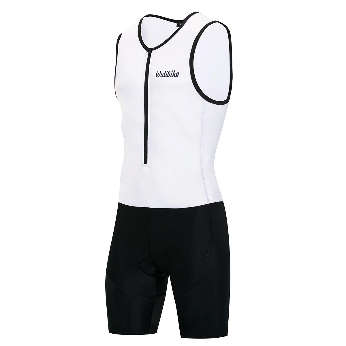 Men's Sleeveless Triathlon Trisuit Quick Dry Skinsuit Breathable Triathlon Racing Suit