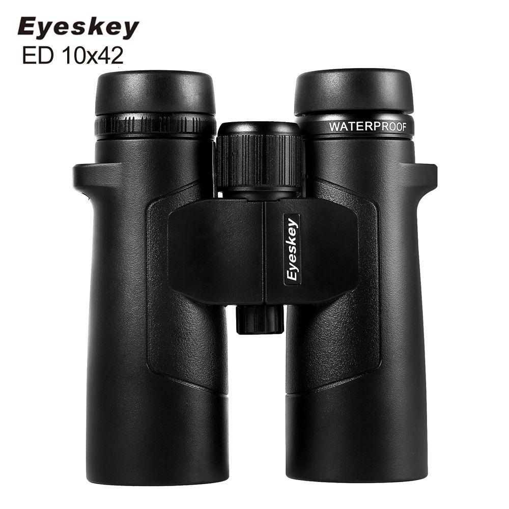 Eyeskey ED 10x42 Waterproof Super-Multi Coating Binoculars Bak4 Prism Optics High Power Telescope for Camping Hunting Outdoor