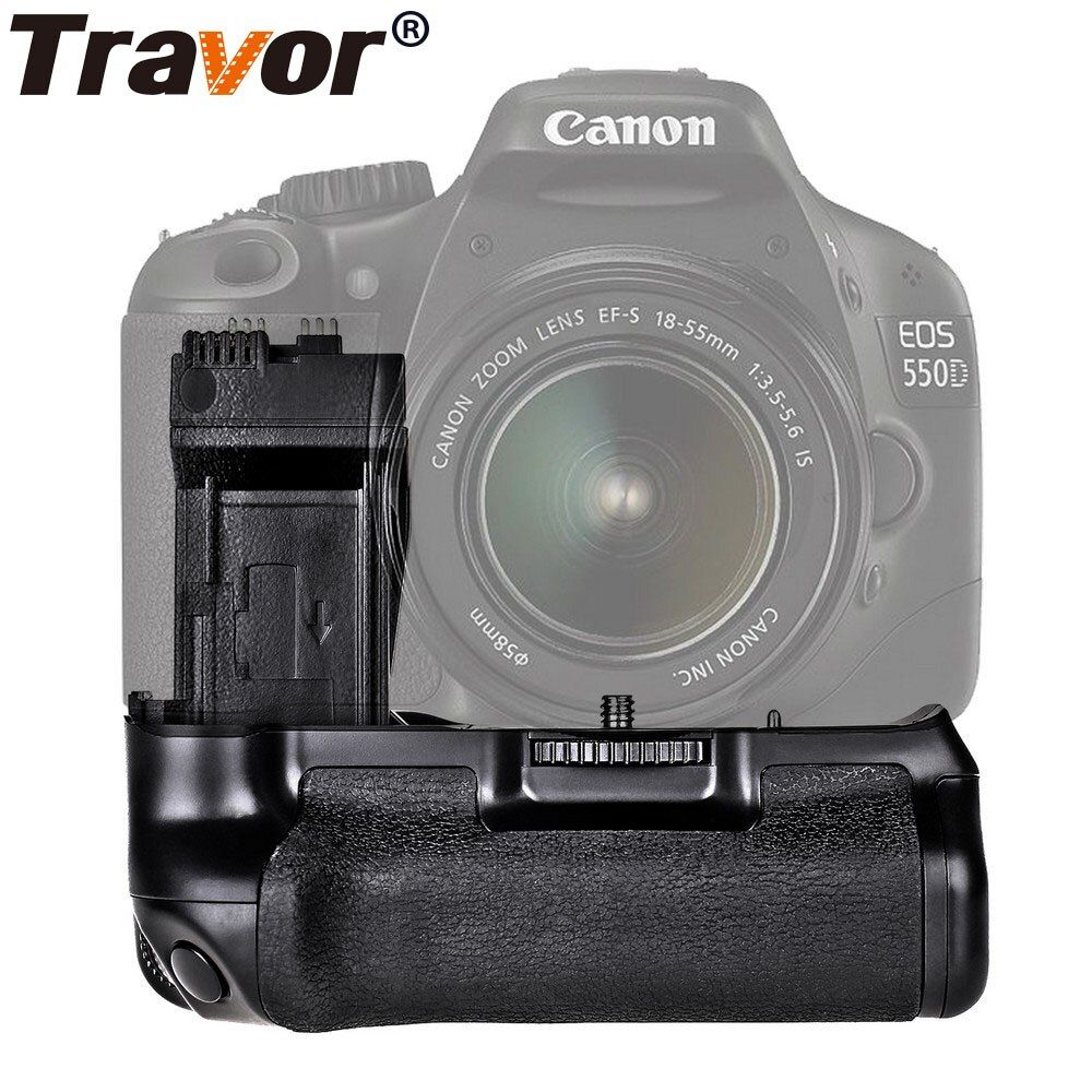 Travor Battery Grip Holder for Canon 550D 600D 650D <font><b>700D</b></font> Rebel T2i T3i T4i T5i work with LP-E8 battery replacement BG-E8
