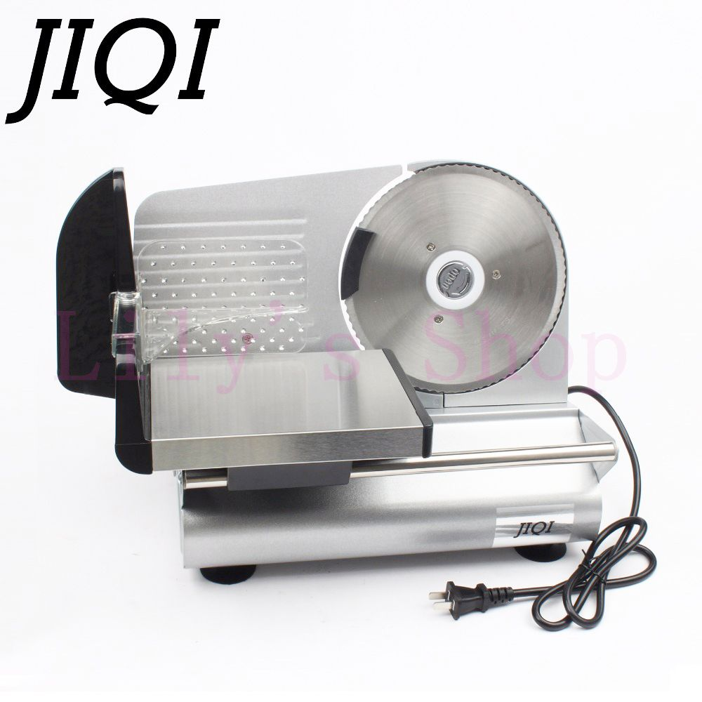 JIQI electric meat slicer mutton roll frozen beef cutter lamb Vegetable Slicing machine stainless steel grinder 110V 220V EU US