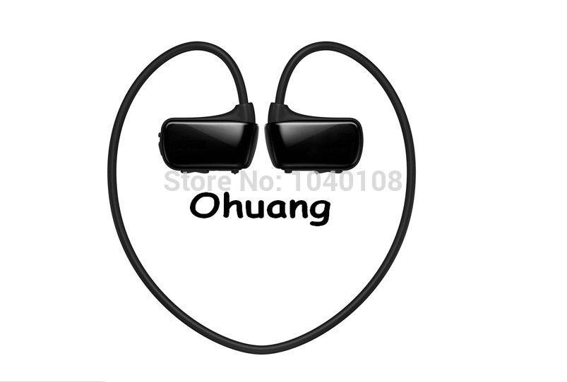 Настоящее Ёмкость W273 2 ГБ Водонепроницаемость Беспроводной шейным Спорт MP3 плеера.